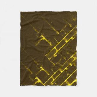 Cobertor De Velo Weave geométrico amarelo rústico do Batik de Brown