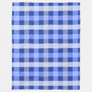 Cobertor De Velo Xadrez azul