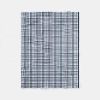 Cobertor De Velo Xadrez dos azuis marinhos da prata do fã de