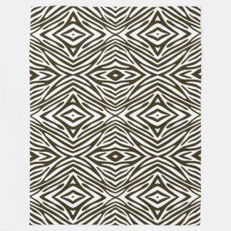 Cobertor De Velo Zebra do ponto morto do Mocha de Café