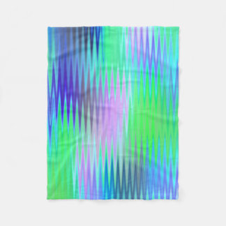 Cobertor De Velo Ziguezague do verde azul