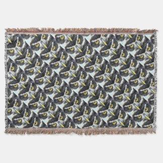 Cobertor design da coruja do fractal