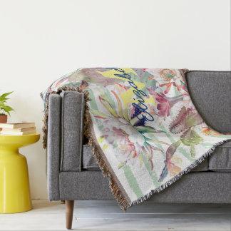 Cobertor Design do cacto, o floral e das listras da