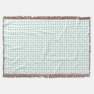 Cobertor Design do teste padrão da silhueta das flores