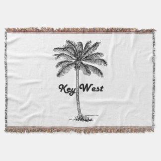 Cobertor Design preto e branco de Key West Florida & da