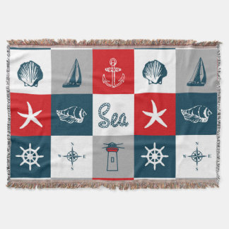 Cobertor Design temático náutico