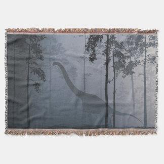 Cobertor Dinossauro pela cobertura do lance do luar