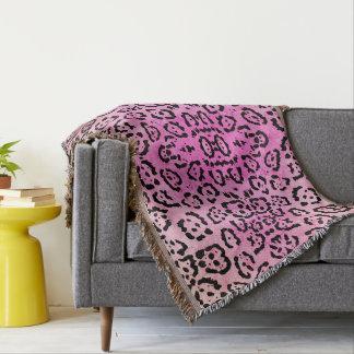 Cobertor Efeito cor-de-rosa da pintura de óleo do animal do