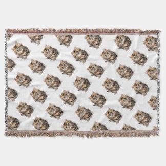 Cobertor escala do design do fractal do gatinho