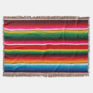 Cobertor Estilo mexicano colorido, estilo étnico