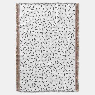 Cobertor Estilo mínimo geométrico do abstrato do preto de