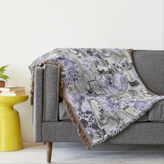 Cobertor Etiquetas do sabão e do perfume do vintage - Lilac