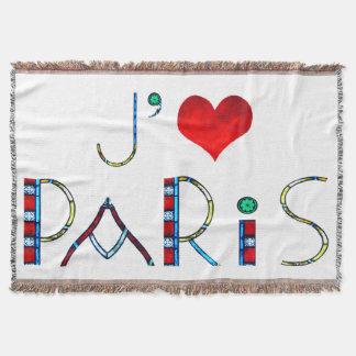 Cobertor Eu amo Paris no vitral de Notre Dame