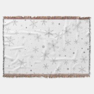 Cobertor Floco de neve da cintilação - cinza & Branco de