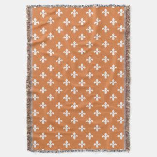 Cobertor Flor de lis do sul da casa de campo da casca