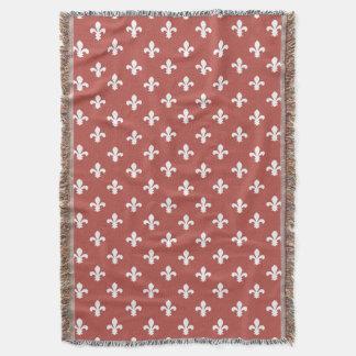 Cobertor Flor de lis do sul da casa de campo da melancia