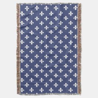 Cobertor Flor de lis do sul da casa de campo do mirtilo