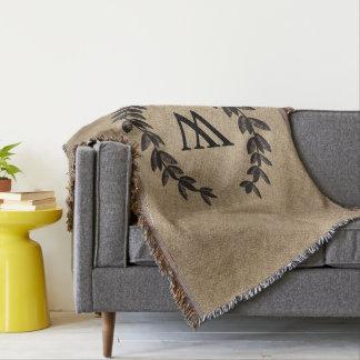 Cobertor Flor de lis gravada preto dos louros -