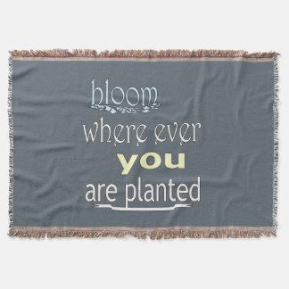 Cobertor Flor onde você é plantado nunca
