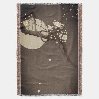 Cobertor Flores da ameixa na noite por Ohara Koson elegante