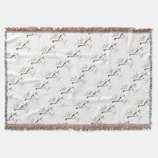 Cobertor flores de sakura com pássaros, fernandes tony