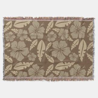 Cobertor Florido Flor Marrom do Havai