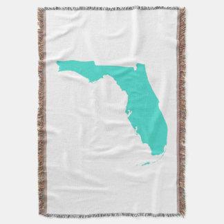 Cobertor Forma de Florida de turquesa