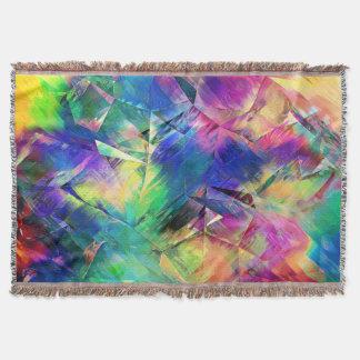 Cobertor Formas e texturas coloridas abstratas