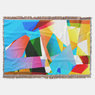 Cobertor fractal abstrato do design