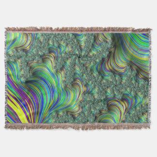 Cobertor Fractal colorido