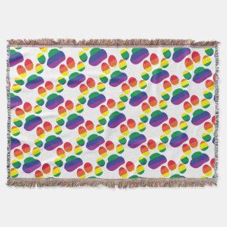 Cobertor Gay-Orgulho-Pata-Impressão