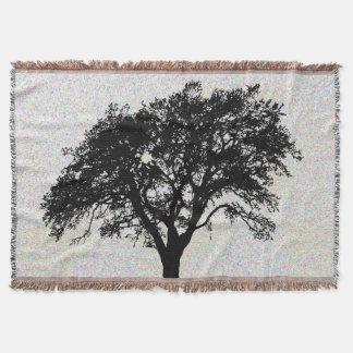 Cobertor Grande design preto do impressão da árvore bonito