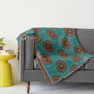 Cobertor Grande teste padrão florido da laranja de Brown da