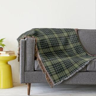 Cobertor Grande xadrez de Tartan preta verde