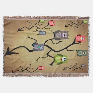 Cobertor Grandes corujas Horned dos desenhos animados