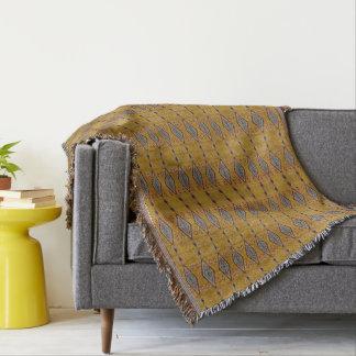 Cobertor HAMbyWG - olhar tribal geral do lance - amarelo