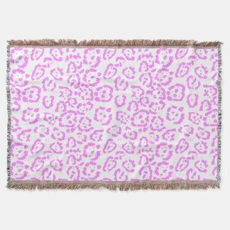 Cobertor Impressão animal da chita cor-de-rosa de néon