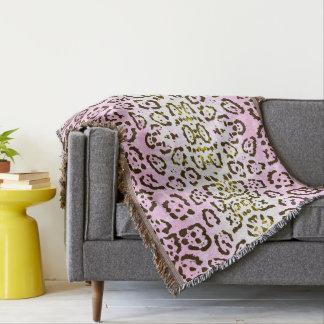 Cobertor Impressão animal do gato rosa pálido do pop art da