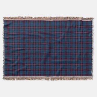 Cobertor Impressão azul brilhante real da xadrez, listra