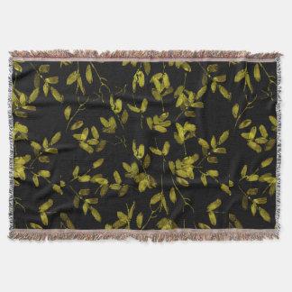 Cobertor Impressão floral escuro