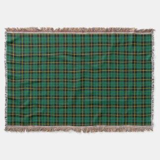 Cobertor Impressão verde da xadrez de turquesa, listra