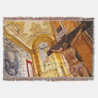 Cobertor Jesus na cruz