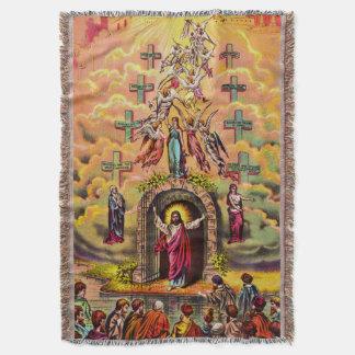Cobertor Jesus na porta do céu