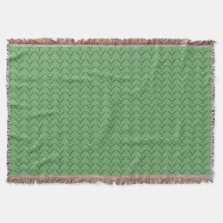 Cobertor Lance abstrato verde do teste padrão