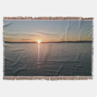 Cobertor Lance bonito bonito da cobertura do lago sunset