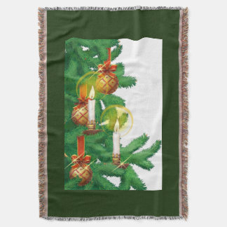 Cobertor Lance da vela da árvore dos ornamento dos feriados
