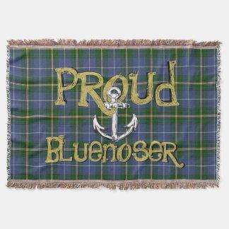 Cobertor Lance orgulhoso da âncora do tartan de Bluenoser