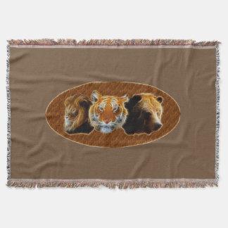 Cobertor Leão e tigre e urso