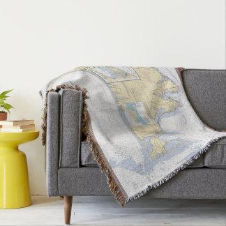 Cobertor Longitude da latitude do Martha's Vineyard náutica