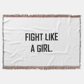 Cobertor Luta como uma menina